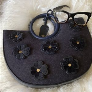 On Purpose Floral Appliqué Circle Tote